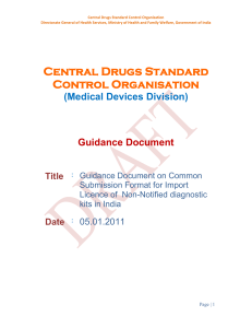 Form-10 ncd - Central Drugs Standard Control Organization
