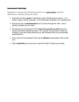 inconvenient truth study guide inconvenient truth essay