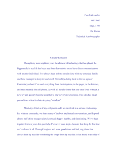 Technical Autobiography First Draft