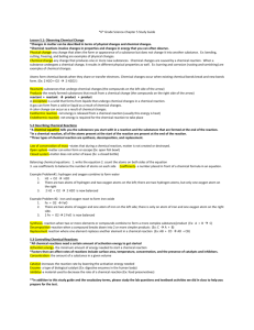 *6th Grade Science-Chapter 5 Study Guide Lesson 5.1: Observing