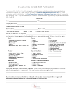 2016 BOARDway Bound Application