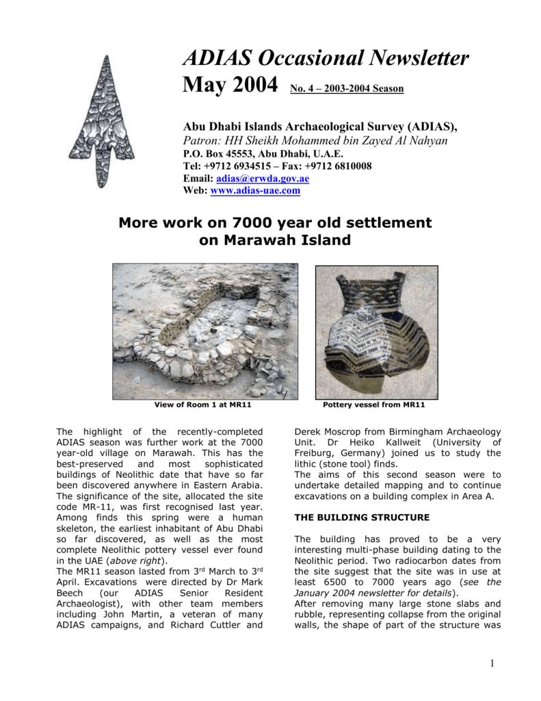 newsletter/ADIAS newsletter May 2004