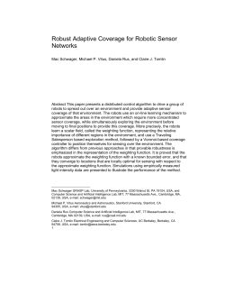 Robust Adaptive Coverage for Robotic Sensor Networks Mac Schw