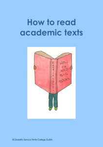 How to read academic texts
