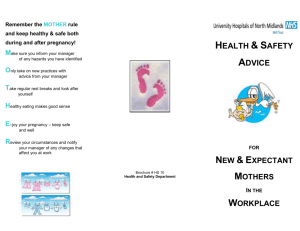 New & Expectant Mothers Leaflet