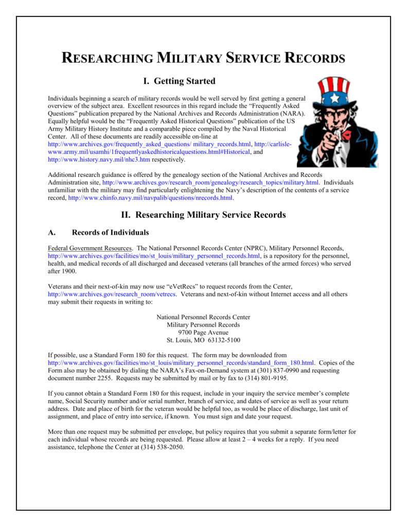 Research Tips Military Records