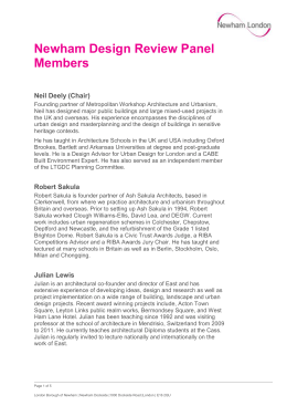 Newham design review panel members