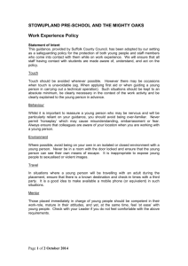 Work Experience Policy 2014 - Stowupland Pre