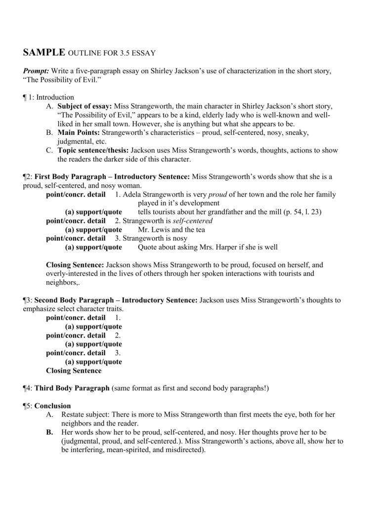 Analysis in essay