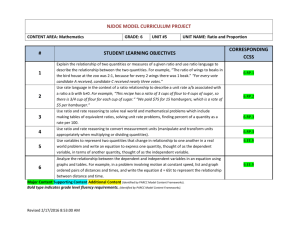 NJDOE MODEL CURRICULUM PROJECT CONTENT AREA
