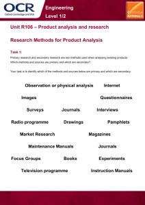 Research methods for product analysis
