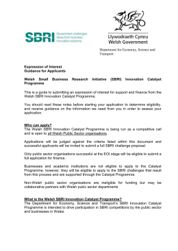 the SBRI Expression of Interest form