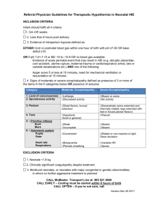 Referral Physician Guidelines for Therapeutic Hypothermia