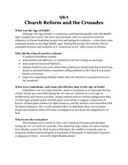 Dbq Focus Crusades