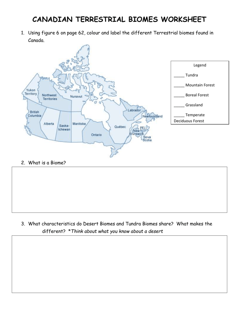 Worksheets Biomes Worksheet canadian terrestrial biomes worksheet 007620200 2 f7e039b35117e442380044b71858c1ac png