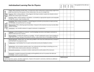 Individualized Learning Plan for Physics