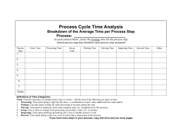 Process Cycle Time Analysis