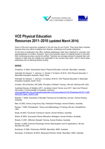 VCE Physical Education Resources 2011-2016