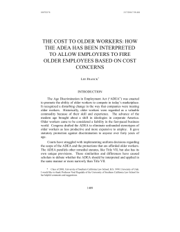 the cost to older workers - Personal World Wide Web Pages