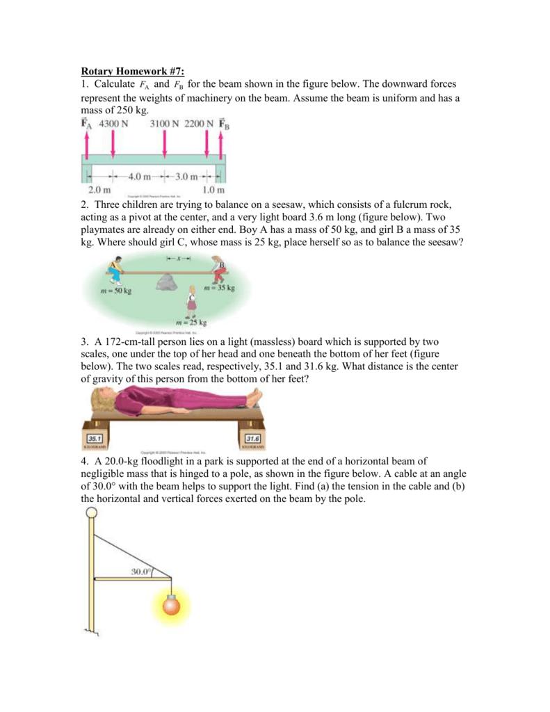 172 Cm 50 Kg rotary homework #1: