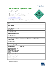 Land for Wildlife Application Form