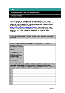 DTI TECHNOLOGY PROGRAMME - UK Government Web Archive