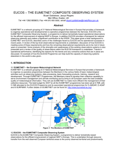 EUCOS – THE EUMETNET COMPOSITE OBSERVING