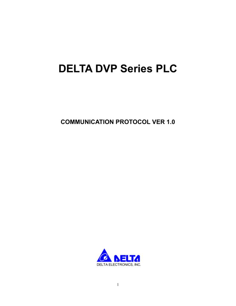 DELTA PLC modbus protocol