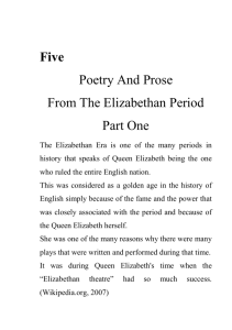 five - Poetry And Prose From The Elizabethan Period