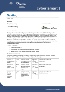 Sexting (DOC 8.9MB) - Office of the Children`s eSafety Commissioner