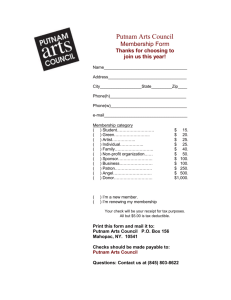 MEMBERSHIP - Putnam arts Council