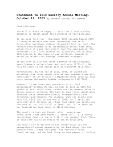 Statement to 1818 Society Annual Meeting, October 11, 2005 by