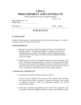 procurement and contracts - California State University, Los Angeles