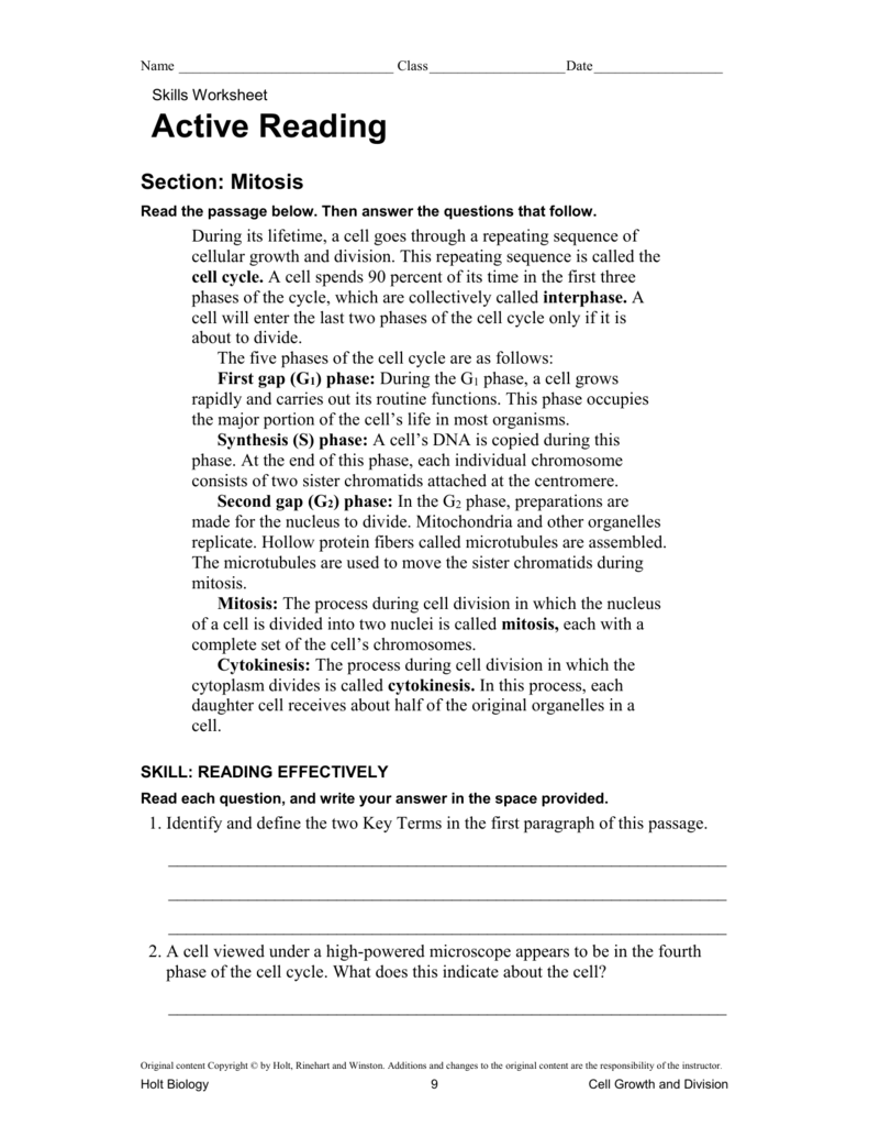 Worksheets Holt Biology Worksheet Answers file