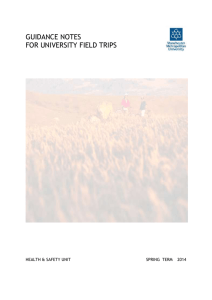 Guidance on University Field Trips