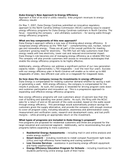 Duke Energy Carolinas North Carolina Interconnection Request