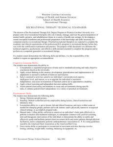 Technical Standards Form - Western Carolina University
