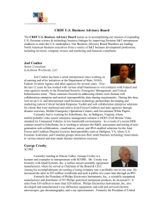 CRDFBusinessAdvisory.. - US Civilian Research & Development