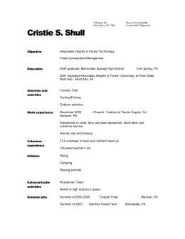 Link to word document of resume