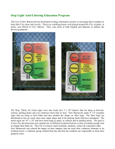 Stop Light Litter Education Posters