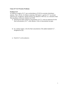 Chem 417 Ch 1 Practice Problems