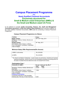 Campus Placement Programme at a Glance