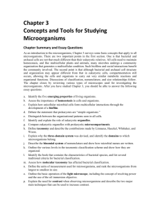 Chapter 3: Concepts and Tools for Studying Microorganisms