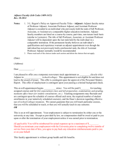 Letter of Offer Template: Professional Research Assistant/Associate