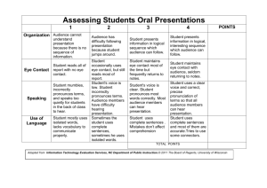Assessing Students Oral Presentations