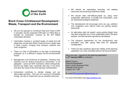 Brent Cross Development – Waste, Transport and the Environment