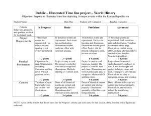 Rubric – Illustrated Time line project – World History