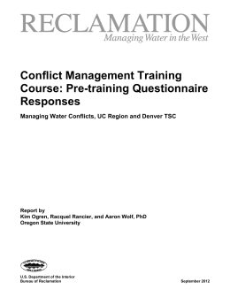 Incentives and Disincentives for Managing Conflict