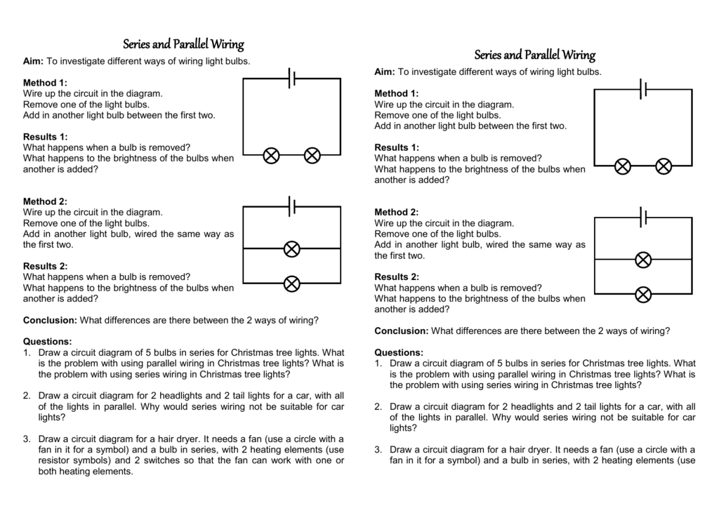 Series And Parallel Wiring