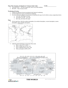 Plate Tectonics and Earthquakes TEST Study Guide